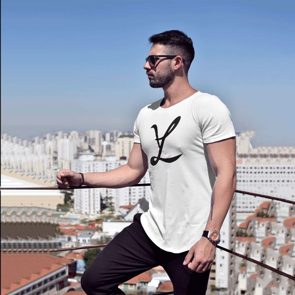 T-Shirt Camiseta Big Leg White